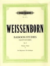 Weissenborn Bassoon Studies Op8 Livre 1 débutants *