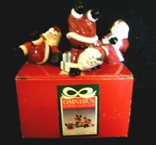 Vintage Omnibus~Santa Tree Tumbling Santas~2051/603~Set Of 3~Fitz And Floyd~Iob