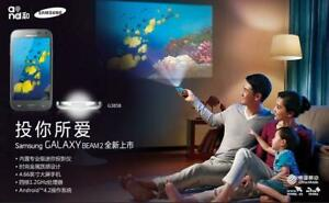 Samsung Galaxy Beam2 SM-G3858 3G 4.66'' Cellphone with Built-in Projector