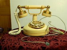 Vintage Western Electric Touch-Tone French Style Telephone Gold/Tan Phone At&T