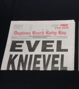 Evel Knievel Daytona Beach Ratty Rag News Paper Newspaper
