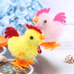 Plush Wind Up Chicken Kids Educational Toy Clockwork Jumping Walking Chicks 'JI