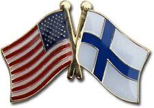 USA American Finland Flag Bike Motorcycle Hat Cap lapel Pin