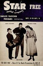 TV Guide 1958 John Wayne Maureen O'Hara The Quiet Man Regional Boston Star COA