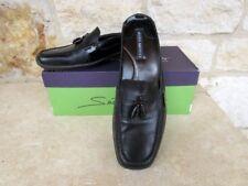 Sesto Meucci Women's Black Leather/Patent Slides Mules Shoes Tassel Size 7 1/2 M