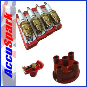 Ford Pinto Accuspark triple ground,copper Spark Plugs Cap + Red Rotor for Bosch