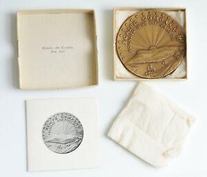 Scaife Company Pittsburgh 1952 Commemorative Bronze Relief Medal - Original Box