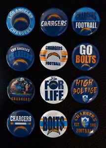 Los Angeles Chargers - 1 1/2 Inch Buttons - Set of 12