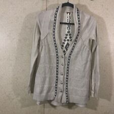 Free People Women's Size XS Snowflake Cardigan Oatmeal Color