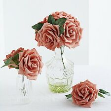 """24 Dusty Rose 5"""" Foam Rose Flowers Stems Wedding Events Decorations Supplies"""