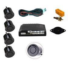 noir 4 Point arrière Kit Capteur Stationnement avec haut-parleur / Alarme - pour