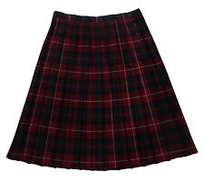 Preswick & Moore, 100% Wool Plaid Pleated Skirt, size 36 (US size 16)