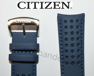 Original Citizen 23mm Blue Angels Leather Watch Band Strap H800-S081165 S081157