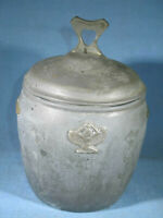 Vintage Benedict Karnak Silver Plate Brass #379 Tobacco Jar / Cigar Box w/Lid
