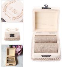 Wood  Engagement Wedding Ring Display Storage Box Show Case Organiser Holder