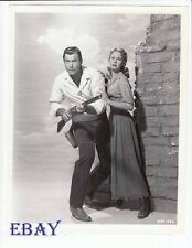 Clint Walker Virginia Mayo RARE Photo Fort Dobbs