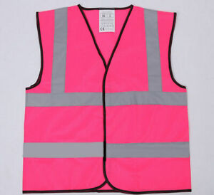 Pink Hi Vis Vest Reflective HiViz Visibility Jacket Hen Night Walking Sports ID