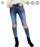 Free people busted knee high waisted skinny jeans size 25 Great pre-owned cond