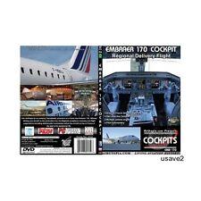 """Embraer 170 Cockpit-""""Regional Delivery Flight"""" DVD Video-Brand New Sealed"""