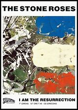 """Reproduction The Stone Roses Poster, """"Resurrection"""" Indie, Manchester"""