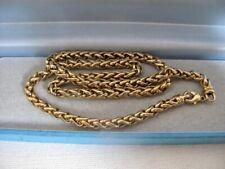 VINTAGE 9ct Oro Placcato Fishtail a coda I Link collana catena di 18 pollici 31.1g gioielli