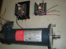 Magnetek 46807352543-0A DC Motor with (2) Minarik MM23001A Driver Modules