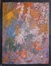 Renée Saint Hillier huile sur papier art naïf art brut Art Abstrait Audebès