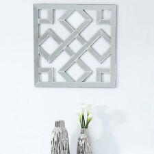 Small Diamond Geometric Wall Art Mirror Picture Contemporary Shiny Decor 40cm