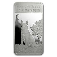 1/2 oz Silver Bar - APMEX (2018 Year of the Dog) - SKU#152692