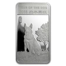 1/2 oz Silver Bar - APMEX (2018 Year of the Dog) - SKU#152692