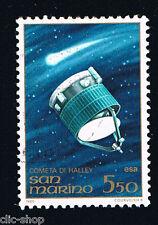SAN MARINO 1 FRANCOBOLLO COMETA HALLEY SATELITE ESA SPAZIO 1986 usato