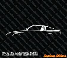 2X Car silhouette stickers - for Chrysler Conquest widebody TSI