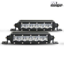 "2PCS Led Light Bar Super Slim 7"" 30W Spot Driving Fog Light Single Row Off Road"