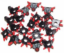 LEGO LOT OF 20 NEW RED AND BLACK NINJAGO ARMOR PARTS SPIKED SHOULDER PADS