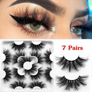 7 Pairs 3D Mink Soft Long Natural Thick Makeup Eye Lashes False Eyelashes Box