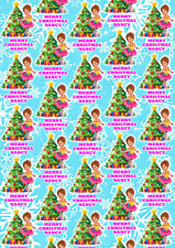 FANCY NANCY CLANCY Personalised Christmas Gift Wrap -  Christmas Wrapping Paper