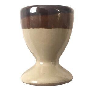 Mini/Succulent Size Pottery Plant Pot EggCup Neutrals Tan Brown Striped Pretty