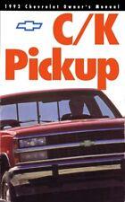 1992 Chevrolet Truck Owners Manual User Guide Operator Book Fuses Fluids OEM