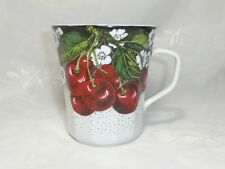 BEAUTIFUL VINTAGE PORCELAIN CHERRIES MUG CUP CHODZIEZ POLAND