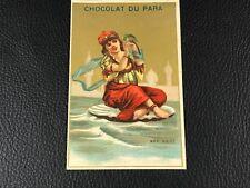 CHROMO CARD CHOCOLAT DU PARA MER NOIRE  EPOQUE 1880 90