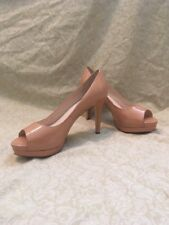 Elie Tahari Madison Peeptoe, Leather, Women's Shoes, Size 8.5