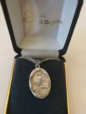 """Scapular Medal Jesus Sterling Silver Medal with 23"""" Continuous Chain  Malco"""