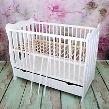 NEW WHITE 2in1 COT-BED 120x60  WITH DRAWER - RRP 149 GBP - BIG BARGAIN !!!
