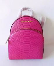 NWT Michael Kors Abbey Embossed Leather XS BackPack ~ Fuschia