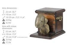 Bedlington Terrier, dog urn made of cold cast bronze, ArtDog, Ca - kind2