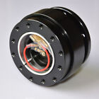 Universal Whole Black Steering Wheel Quick Release Hub Adapter Snap Off Auto