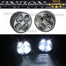 Pair 4 LED Round Super White Work Working Driving Light Fog Lamps For Truck 12V