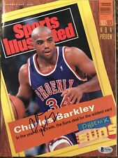 Charles Barkley Sports Illustrated No Label signed autographed Beckett BAS COA