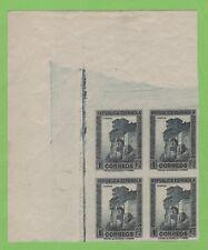 ESPAÑA 1932 EDIFIL 673s** BLOQUE DE 4 CON AMPLIA ESQUINA DE PLIEGO