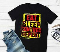 WWE Brock Lesnar Stencil Eat Sleep T-shirt, Unisex tee